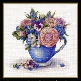 Набор для вышивки крестом - MAGIC CROSS STITCH - 007 Цветочное настроение