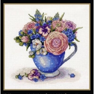Набор для вышивки крестом - MAGIC CROSS STITCH - Цветочное настроение