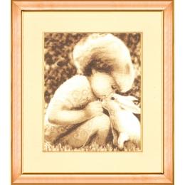 Набор для вышивки Золотое Руно СВ-009 Девочка с кроликом