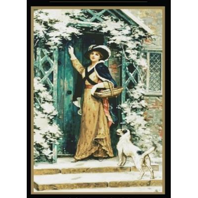 Набор для вышивки крестом - MAGIC CROSS STITCH - Гостья на пороге