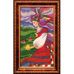Девушка Ночь - ЛЕДИ - набор вышивки крестом