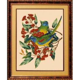Набор для вышивки крестом - ЛЕДИ - Попугаи 01035
