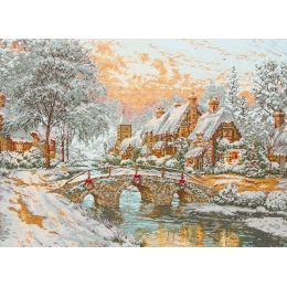 Cobblestone Christmas/Рождество - Anchor MAIA - набор вышивки крестом
