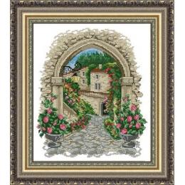 Набор для вышивки крестом - ЛЕДИ - Арка в цветах 01076