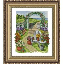 Набор для вышивки крестом - ЛЕДИ - Цветущий сад 01077