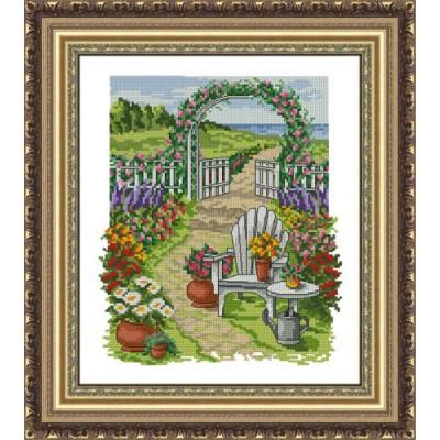 Набор для вышивки крестом Цветущий сад, ЛЕДИ ТМ