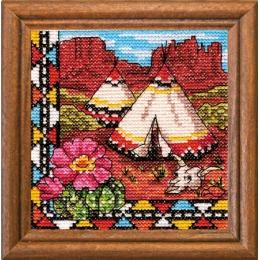 Набор для вышивки крестом - ЛЕДИ - Индийский вигвам 01279