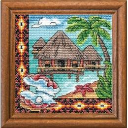 Бунгало Океании - ЛЕДИ - набор вышивки крестом