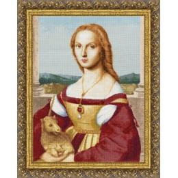Дама с единорогом - Золотое руно - набор для вышивки крестом