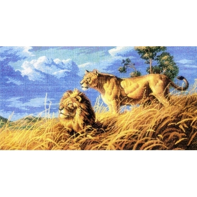Набор для вышивки крестом - Dimensions - 03866 African Lions / Африканские львы