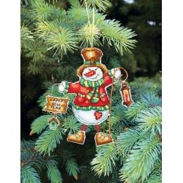 Набор для вышивания крестом Crystal Art Т-04 Серия Новогодние игрушки