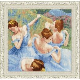 Набор для вышивки крестом - Золотое руно - МК-050 Голубые танцовщицы