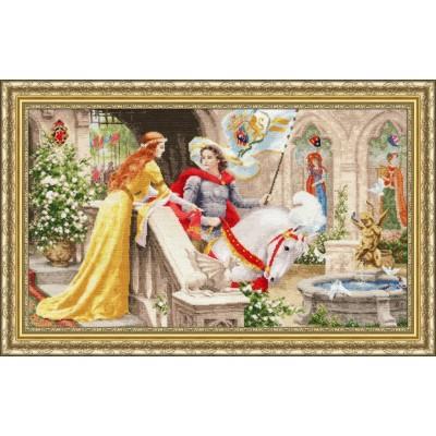 Рыцарь на белом коне - Золотое руно - набор для вышивки крестом