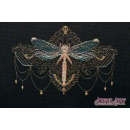 Золотая стрекоза - Абрис Арт - набор вышивки крестом