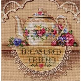 Treasured Friend Teapot  / Чайник для друга - Dimensions - набор для вышивки крестом