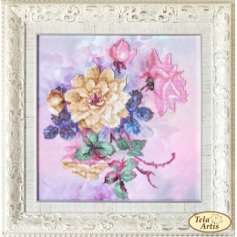Набор для вышивки бисером - Тэла Артис - НГ-079 Розовые грёзы