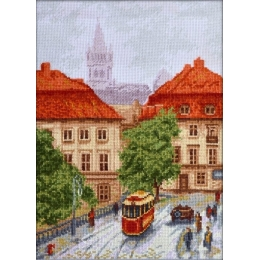 Набор для вышивки крестом - Палитра - Старый трамвай