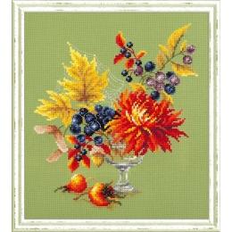 Набор для вышивки крестом - Чудесная игла - 100-005 Осенний букетик