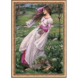«Ветреницы» по мотивам картины Д.У. Уотерхауса - РИОЛИС - набор для вышивки крестом