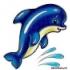 Вышивка бисером дельфины