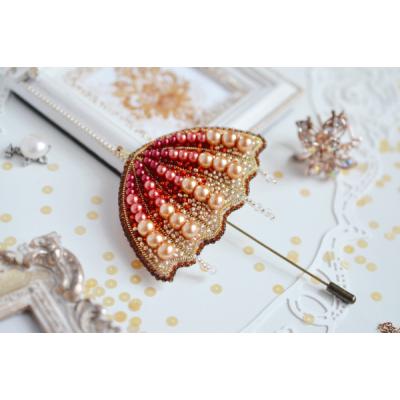 Набор для вышивки бисером - Тэла Артис - Солнечный зонт (брошь)