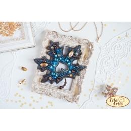 Набор для вышивки бисером - Тэла Артис - Б-107 Лист Аврора (брошь)