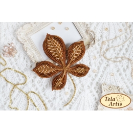 Набор для вышивки бисером - Тэла Артис - Б-108 Лист каштана (брошь)