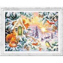 Набор для вышивки крестом - Чудесная игла - 110-700 Зимнее утро