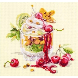 Вишневый десерт - Чудесная игла - набор вышивки крестом