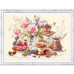 Набор для вышивки крестом - Чудесная игла - 120-203 На чашечку кофе...?!