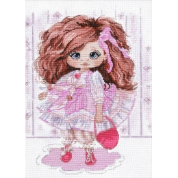 Набор для вышивки крестом - Овен - 1221 Кукла Ариша