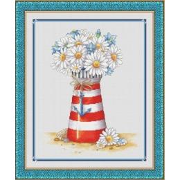 Ромашковый маячок - Dantel - набор для вышивки крестом