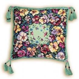 Набор для вышивки крестом - РИОЛИС - Подушка Анютки