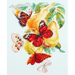 Бабочки на груше - Чудесная игла - набор вышивки крестом