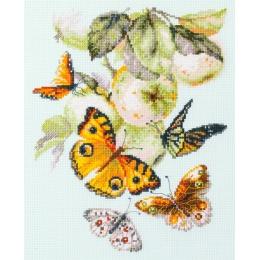 Бабочки на яблоне - Чудесная игла - набор вышивки крестом