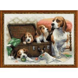 Собачье семейство - РИОЛИС - набор для вышивки крестом