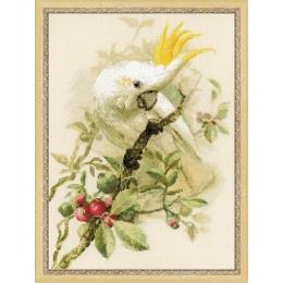 Набор для вышивки крестом - РИОЛИС - 1362 Белый какаду