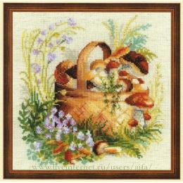Грибное лукошко - РИОЛИС - набор для вышивки крестом