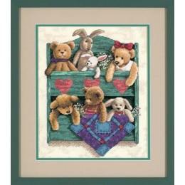 Animal Shelf / Полка с игрушками - Dimensions - набор вышивки крестом
