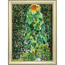 Набор для вышивки бисером - Butterfly - №137 Подсолнух. По мотивам Г. Климта