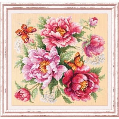 Магия цветов. Пионы - Чудесная игла - набор для вышивки крестом
