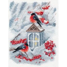 Набор для вышивки крестом Овен 1415 А снег идёт...