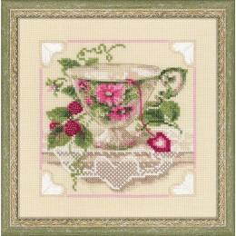 Малиновый чай - РИОЛИС - набор вышивки крестом
