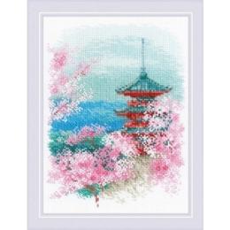 Набор для вышивки крестом - РИОЛИС - 1743 Сакура. Пагода