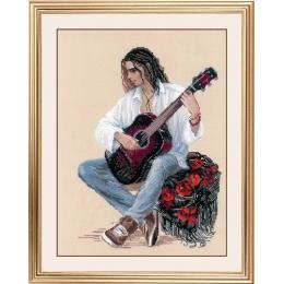 Набор для вышивки крестом - РИОЛИС - 1766 Гитарист
