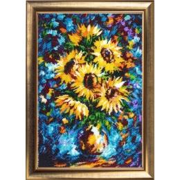 Подсолнухи в вазе (по мотивам Л. Афремова) - Butterfly - набор для вышивки бисером