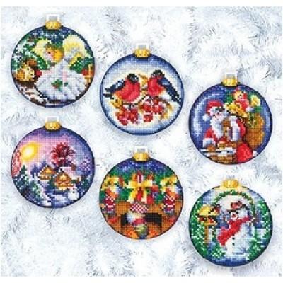 Новогодние шары - Сделай Своими Руками - набор для вышивки крестом