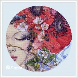 Набор для вышивки крестом - ТМ Мережка - К-185 She Sleeps