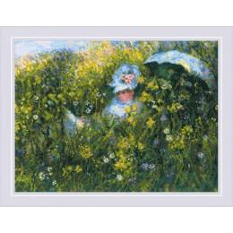 «На лугу» по мотивам картины К. Моне - РИОЛИС - набор для вышивки крестом