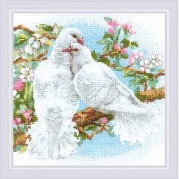 Белые голуби - РИОЛИС - набор вышивки крестом
